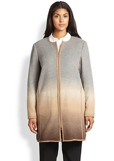 Lafayette 148 New York, Sizes 14-24 Shira Ombre Coat