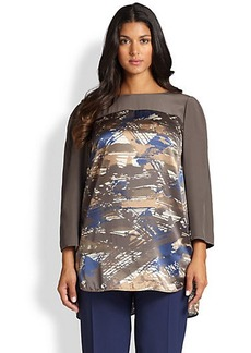 Lafayette 148 New York, Sizes 14-24 Silk Azura Blouse