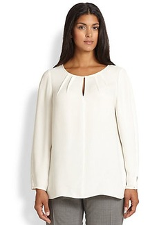 Lafayette 148 New York, Sizes 14-24 Silk Georgette Pattie Blouse