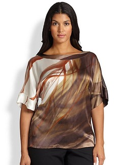 Lafayette 148 New York, Sizes 14-24 Silk Larkin Top