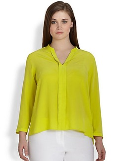 Lafayette 148 New York, Sizes 14-24 Silk Mara Blouse
