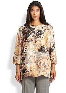 Lafayette 148 New York, Sizes 14-24 Silk Nenita Blouse