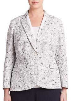 Lafayette 148 New York, Sizes 14-24 Speckled Tailored Blazer