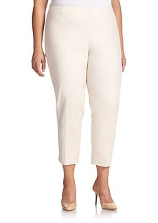 Lafayette 148 New York, Plus Size Stanton Cropped Slim-Leg Pants