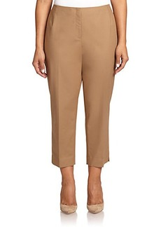 Lafayette 148 New York, Plus Size Stretch-Cotton Cropped Bleecker Pants
