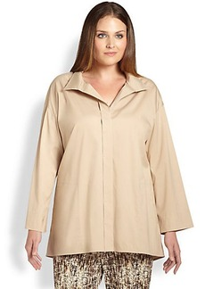 Lafayette 148 New York, Sizes 14-24 Stretch Cotton Karlene Blouse