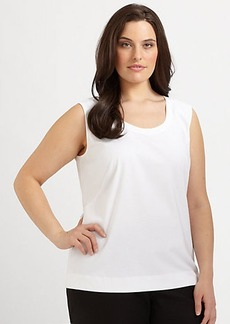 Lafayette 148 New York, Sizes 14-24 Stretch Cotton Scoopneck Tank Top