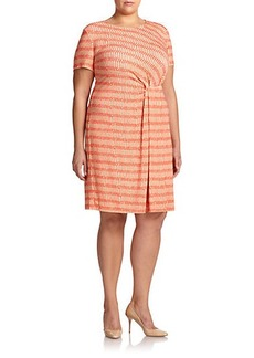 Lafayette 148 New York, Sizes 14-24 Stretch Jersey Gathered Dress