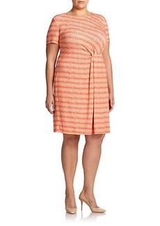 Lafayette 148 New York, Sizes 14-24 Stretch Jersey Gathered Dress