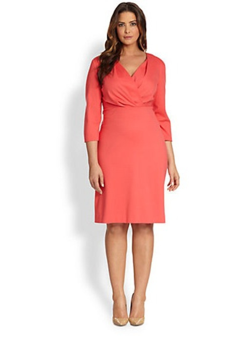 Lafayette 148 New York, Sizes 14-24 Surplice Dress