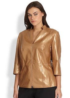Lafayette 148 New York, Sizes 14-24 Tara Leather Jacket