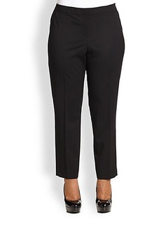 Lafayette 148 New York, Plus Size Wool Ankle-Length Pants