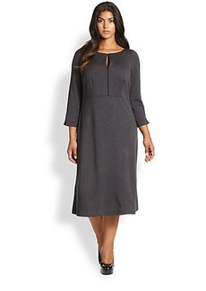 Lafayette 148 New York, Sizes 14-24 Wool Keyhole Dress
