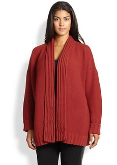 Lafayette 148 New York, Sizes 14-24 Wool/Cashmere Link-Stitch Cardigan