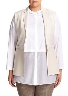 Lafayette 148 New York, Plus Size Zali Linen Vest