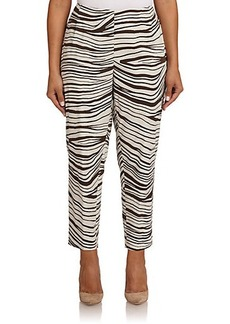 Lafayette 148 New York, Sizes 14-24 Zebra-Print Stanton Pants