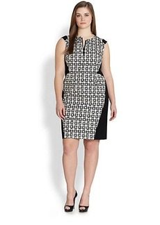 Lafayette 148 New York, Sizes 14-24 Zelina Printed Sheath Dress