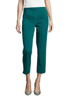 Lafayette 148 New York Skinny-Fit Cropped Pants, Rainforest