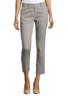 Lafayette 148 New York Skinny-Leg Cropped-Ankle Pants, Fog