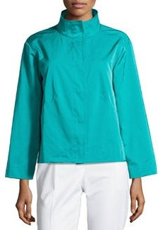 Lafayette 148 New York Skylar Elasticized-Hem Topper Jacket, Splash