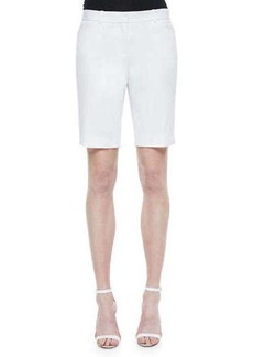Lafayette 148 New York Slash-Pocket Bermuda Shorts, White