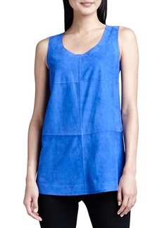 Lafayette 148 New York Sleeveless Bonded Suede Top