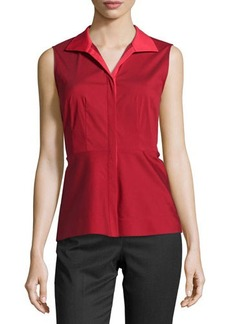 Lafayette 148 New York Sleeveless Fitted Blouse