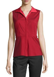 Lafayette 148 New York Sleeveless Fitted Blouse, Snapdragon