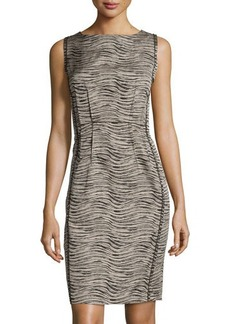 Lafayette 148 New York Sleeveless Jewel-Neck Sheath Dress