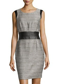 Lafayette 148 New York Sleeveless Sequined Tweed Dress, Raffia Multi