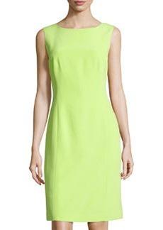 Lafayette 148 New York Sleeveless Silk Sheath Dress, Appletini