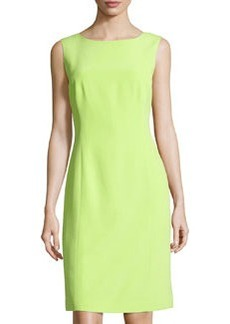 Lafayette 148 New York Sleeveless Silk Sheath Dress, Appletini