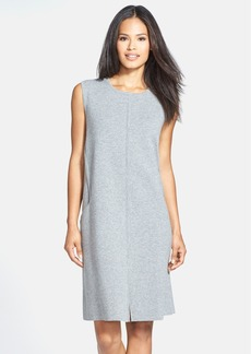 Lafayette 148 New York Sleeveless Wool Flannel Shift Dress