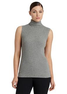 Lafayette 148 New York SleevelessCashmere Turtleneck Sweater