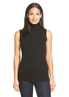 Lafayette 148 New York Sleeveless Cashmere Turtleneck Sweater