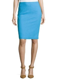 Lafayette 148 New York Slim-Fit Crepe Pencil Skirt, Waterfall