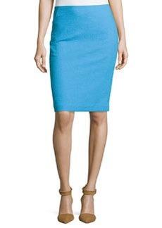 Lafayette 148 New York Slim-Fit Crepe Pencil Skirt, Waterfall