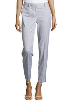 Lafayette 148 New York Slim-Fit Cuffed Suiting Pants, Pale Gray