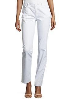 Lafayette 148 New York Slim-Fit Stretch Denim Pants, White
