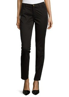 Lafayette 148 New York Slim-Fit Twill Pants, Black