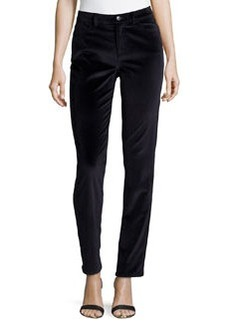 Lafayette 148 New York Slim-Fit Velveteen Pants, Navy