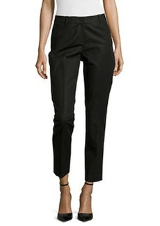 Lafayette 148 New York Slim-Leg Cropped Pants, Black