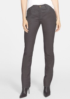 Lafayette 148 New York Slim Leg Jeans (Concrete Iridescent)