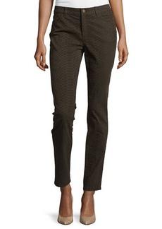 Lafayette 148 New York Slim-Leg Snake-Print Jeans