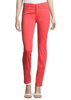 Lafayette 148 New York Slim-Leg Twill Pants, Punch