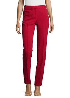Lafayette 148 New York Slim-Leg Wool Pants, Snapdragon