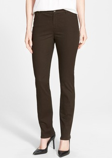 Lafayette 148 New York Snake Jacquard Curvy Fit Slim Leg Jeans  (Regular & Petite)