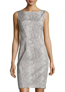 Lafayette 148 New York Snake-Print Paneled Dress