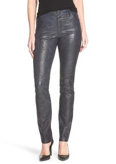 Lafayette 148 New York Snakeskin Embossed Curvy Fit SlimLeg Jeans