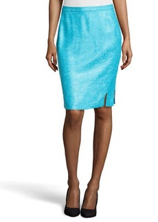Lafayette 148 New York Sofia Tweed Skirt, Pool